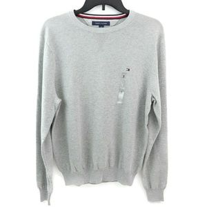 Tommy Hilfiger Mens Crewneck Sweater Grey Long Sle